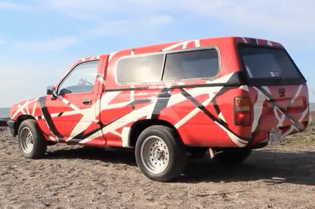 Black Book Car Values >> Watch this dude paint his Toyota pickup like Eddie Van Halen's guitar