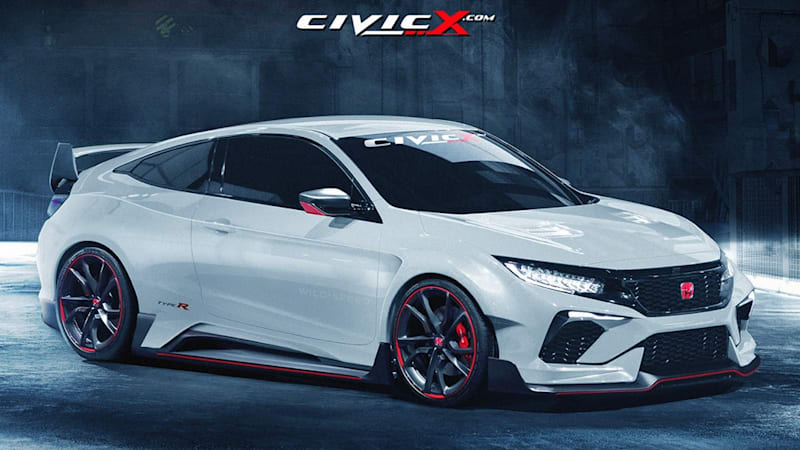 honda civic coupe concept gets type r render autoblog