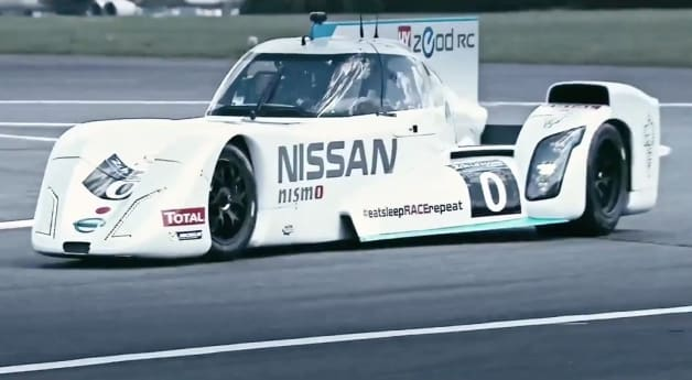 Nissan ZEOD RC on track and from behind the wheel
