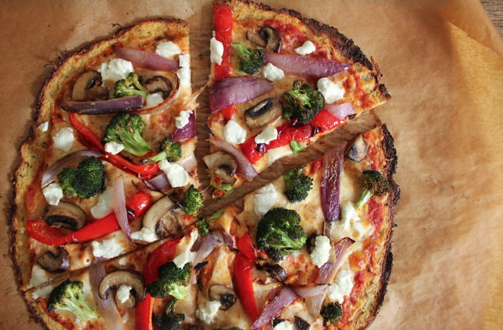 Cauliflower Pizza Crust with Roasted Vegetables - AOL Food
