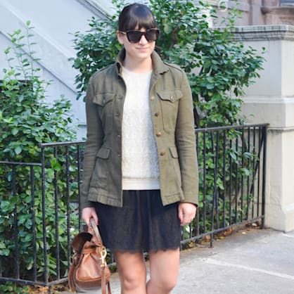 Street style tip of the day: Lacy skirts
