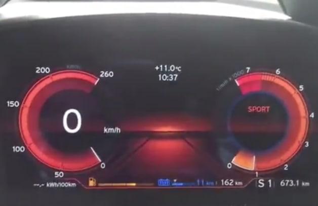 BMW i8 instrument cluster
