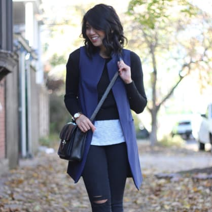 Street style tip of the day: Long vest