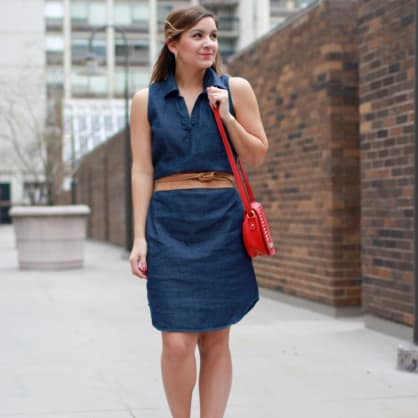 Street style tip of the day: Why you need a denim dress
