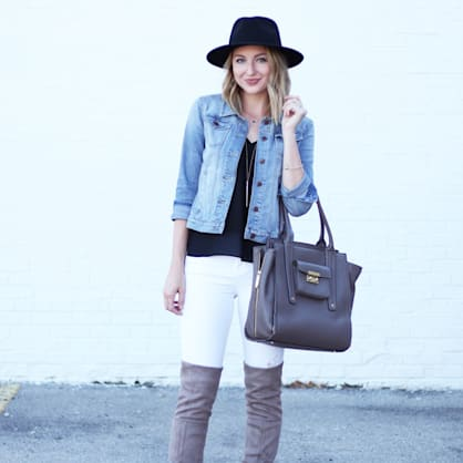Street style tip of the day: Over the knee