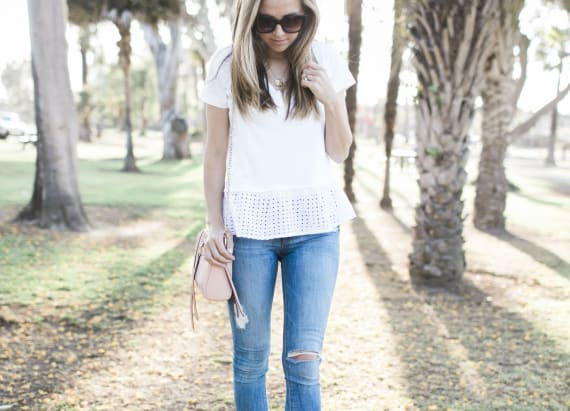 A fashion bloggers favorite pair of jeans