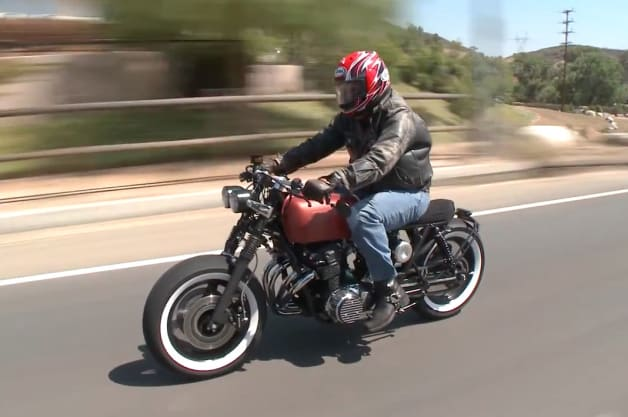 Leno meets the nicest people on his bored-out Honda CB750