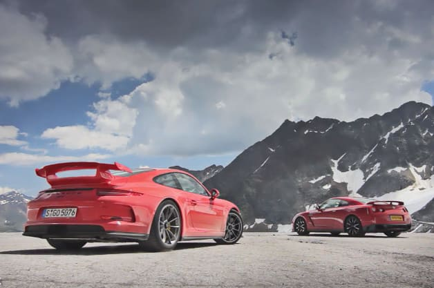 EVO tests Porsche 911 GT3 vs Nissan GT-$
