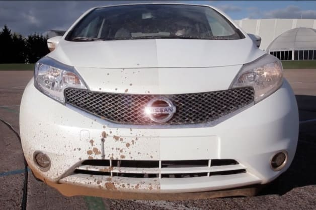 Nissan Note with Self-Cleaning Nano Paint