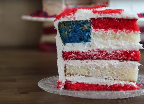 Amazing American flag cake to impress your friends