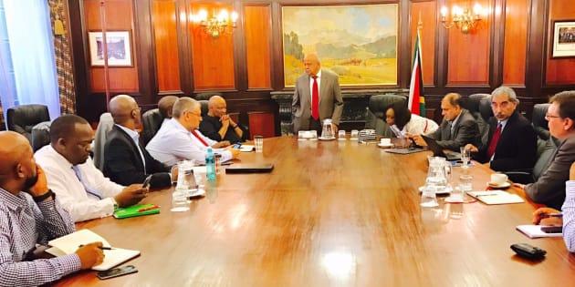 South Africa's Zuma sacks Gordhan as finance minister in reshuffle