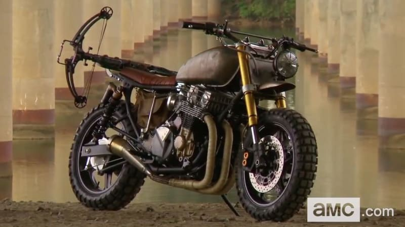 Custom honda motorcycles perfect for evading zombies in the walking
