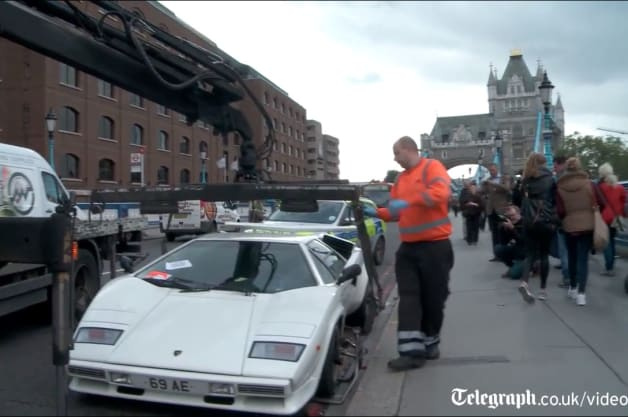 Captivating Lamborghini Countach Towed In London