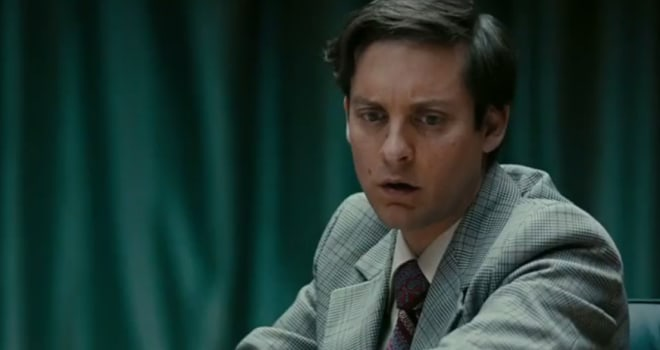 Tobey Maguire Cracks Up as Bobby Fischer in 'Pawn ... Tobey Maguire 2015