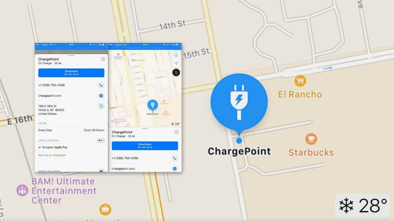 Apple Maps gets smarter about plugging in EVs