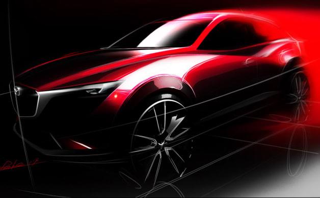 Mazda CX-3 Teaser Sketch for the LA Auto Show