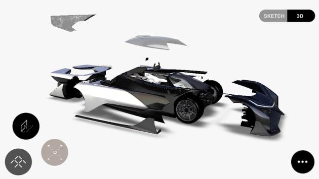 Faraday Future's insane 1000 horsepower concept car leaks