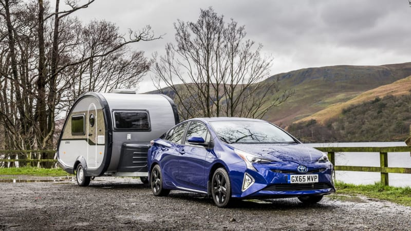 2016 Toyota Prius can tow a 1,600-pound trailer, for some reason