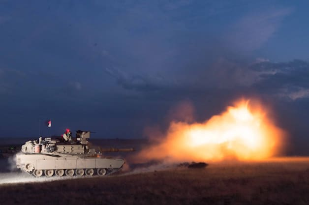 US Army Tank fire