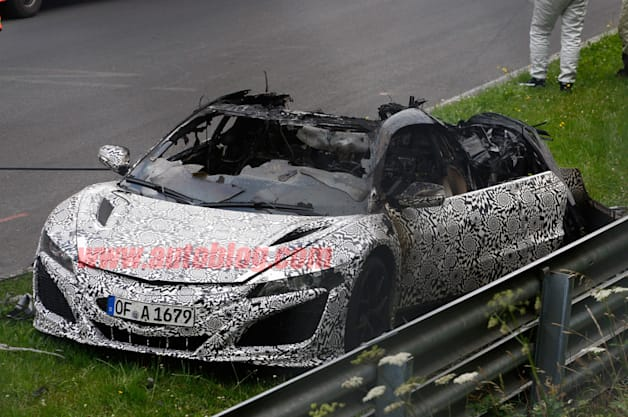 2015 Acura NSX burns to the ground at the 'Ring [w/video]