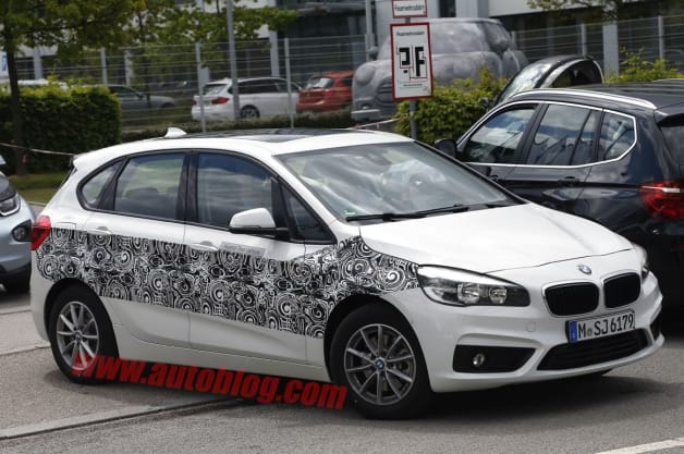 BMW 2 Series Active Hybrid spy shot