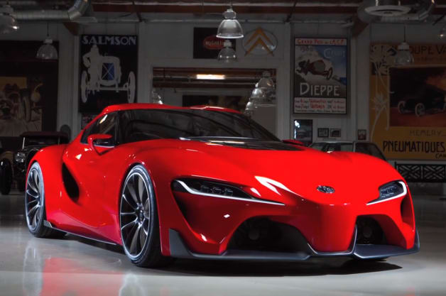 Jay Leno with the Toyota FT-1
