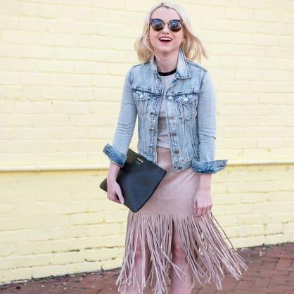 Street style tip of the day: Fringe skirt