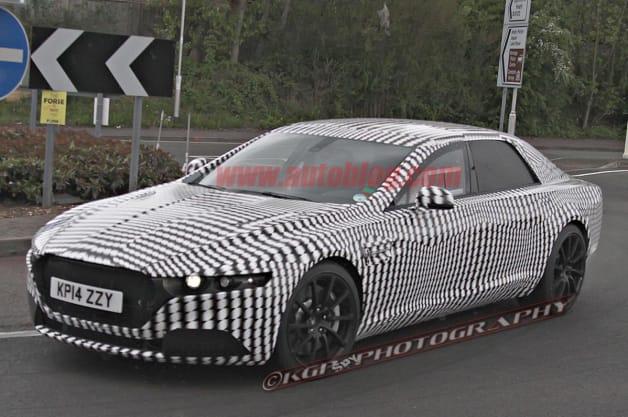 Aston Martin Lagonda sedan spy shot