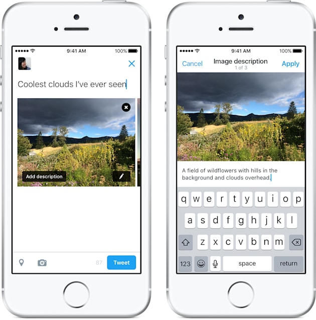 Twitter adds image descriptions to help the visually impaired