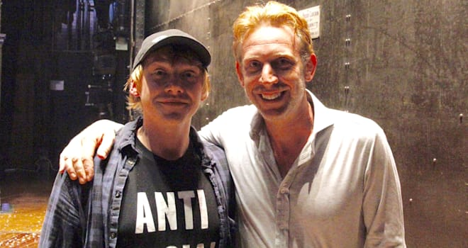 Rupert Grint Meets New Ron Weasley After 'Cursed Child' Show