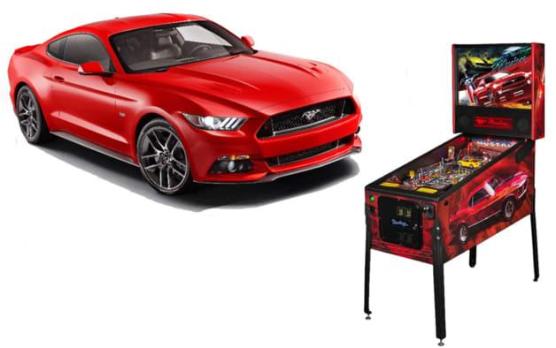 Ford Mustang pinball machine