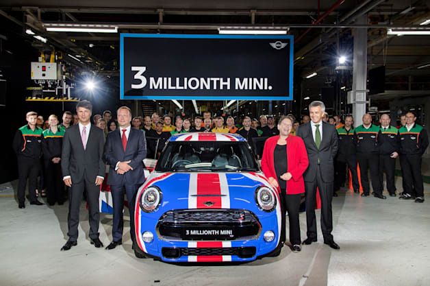 Mini Cooper number 3 million at Oxford