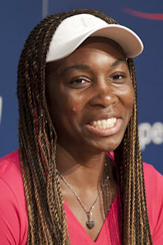 NEW YORK - AUGUST 25: Venus Williams attends press conference at Arthur Ash stadium on August 25, 2012 in Queens New York