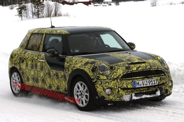 Mini Cooper five-door hatchback spy shots