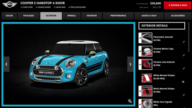 Mini Cooper S Four Door Hardtop configurator