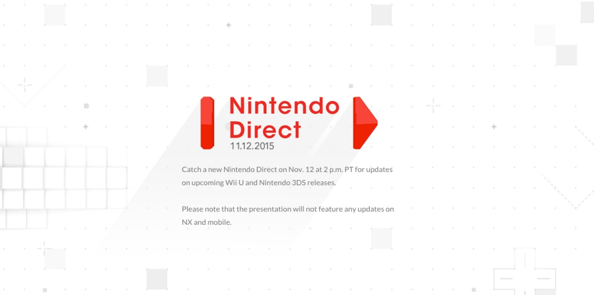 Nintendo Direct returns on Thursday with Wii U and 3DS news