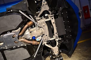 2014 Chevy C7 Corvette Stingray front undercarriage
