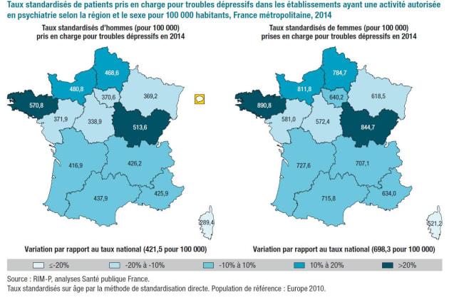 Une grande disparité selon les régions — Troubles bipolaires