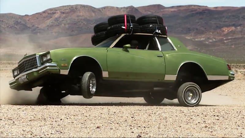 Hoons Off Road In A Lowrider Monte Carlo In Latest
