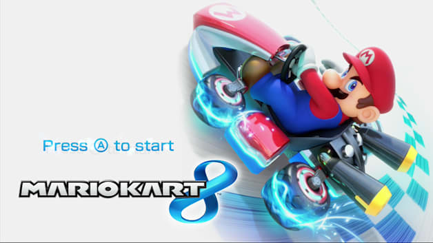 Mario Kart 8 title screen