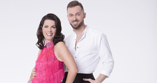 """DANCING WITH THE STARS - NANCY KERRIGAN WITH ARTEM CHIGVINTSEV- The celebrity cast of """"Dancing with the Stars"""" are donning their glitzy wardrobe and slipping on their dancing shoes as they ready themselves for their first dance on the ballroom floor, as the season kicks off on MONDAY, MARCH 20 (8:00-10:01 p.m. EST), on the ABC Television Network. (ABC/Craig Sjodin)"""