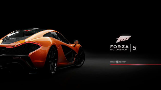 Forza Motorsport 5 start screen