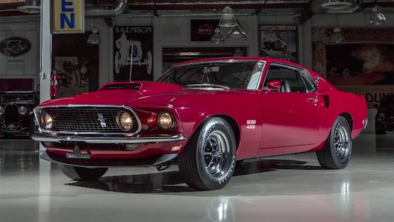 Compare Car Insurance Quotes >> 1969 Ford Mustang Boss 429 rumbles into Jay Leno's Garage ...
