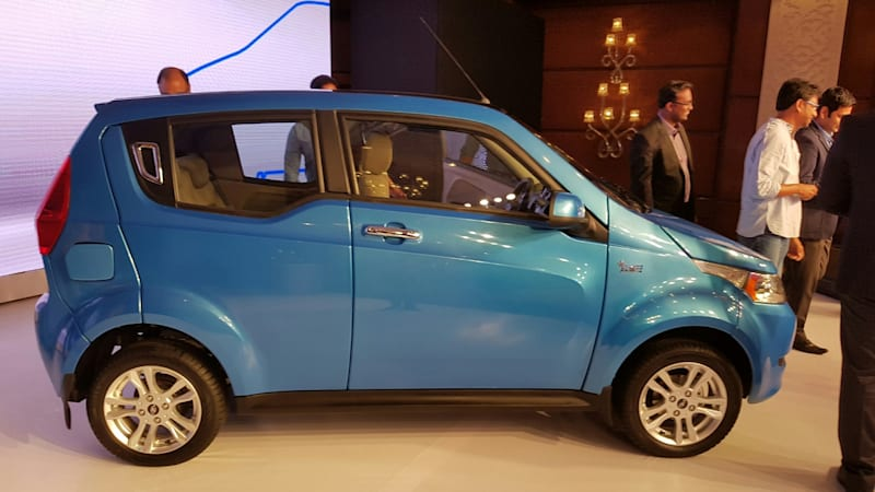 Mahindra debuts four-door e20 electric vehicle