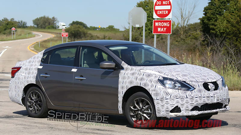 Next Nissan Sentra spied, test driver salutes