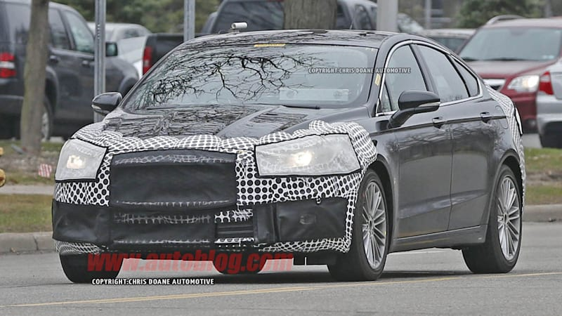 Ford Is Already Hard At Work Developing The Look Of The Refreshed Fusion.  Based On Some New Spy Shots, It Seems The Stylish Sedan Is Getting Tweaks  Like A ...