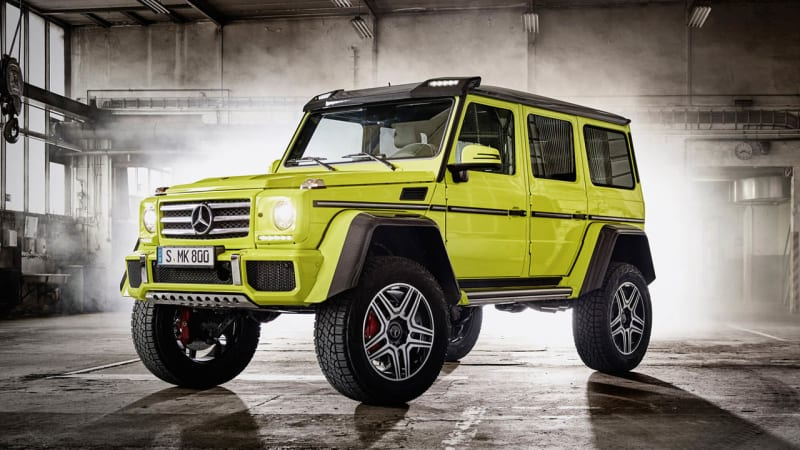 Mercedes benz g500 4x4 squares up for production autoblog for Mercedes benz g class 4x4