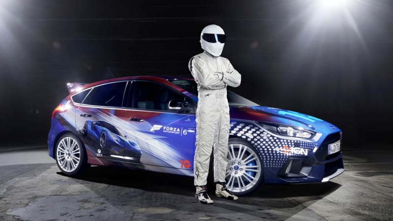 The Stig drives Forza-liveried Ford Focus RS to Gamescom