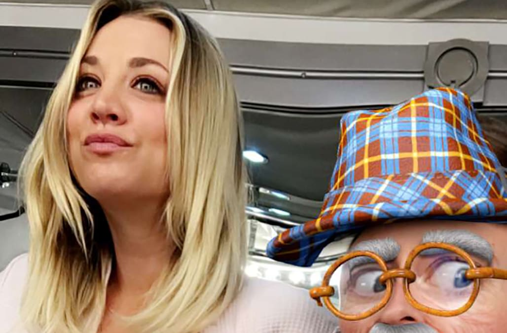 Kaley Cuoco exposes her bare breast on Snapchat, kisses