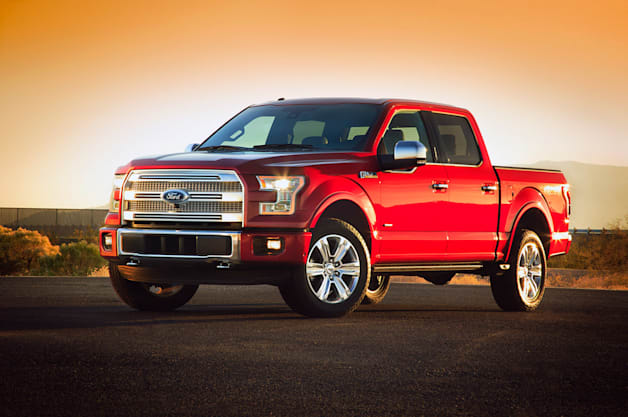 2015 Ford F-150 - Red three-quarter front view